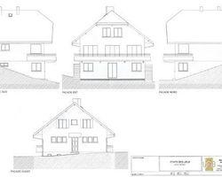 Lab Architectes - Cognin - Réhabilitation et extension : Chambres d'hôtes + Habitat - Chambres d'hôtes + habitat : les façades initiales