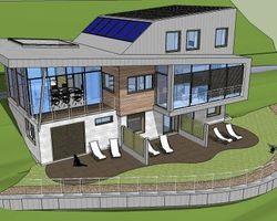Lab Architectes - Cognin - Réhabilitation et extension : Chambres d'hôtes + Habitat - Chambres d'hôtes + habitat : vue de la façade Nord